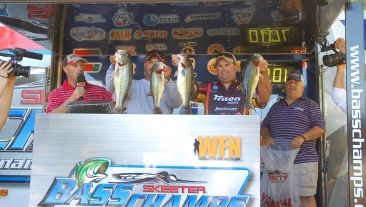 Shonn Blassingame & Cody Burdine take home a new Skeeter ZX 20 Yamaha SHO 225, Minn Kota/Humminbird at the Toledo Bend Championship.