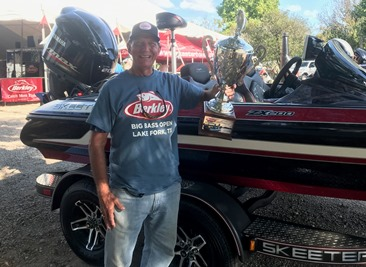 Richard Morgaenthaler, Geneva, IL, tops a record field of over 1200 anglers at the 14th Annual Berkley Big Bass on Lake Fork. Wins a New Skeeter ZX 200- Yamaha 200 SHO - Lowrance rig.