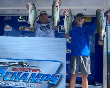 Pat Amick & Connor Hague (15 yrs old) win $20,000 on Lake LBJ with 18.47 lbs