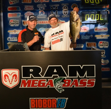 Robert Stover of Clifton, Tx tops a record field of 1802 anglers with a 10.65 at the 5th annual Ram Mega Bass on Lake Fork and takes home a new Ram Truck plus a New Skeeter-Yamaha-Minn Kota-Humminbird rig valued over $60,000