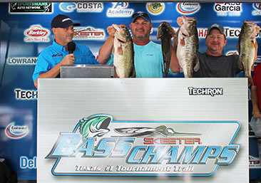 William Flournoy & James Chumley Win over $60,000 at the Techron TX Shootout on Rayburn. Top a record 286 teams with 33.02 lbs.